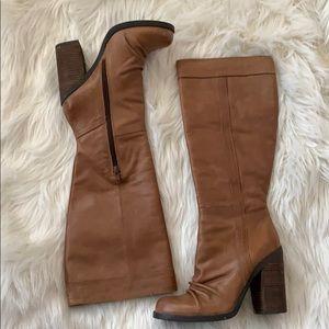 Jessica Simpson Tustiny Tan heel Lima Leather